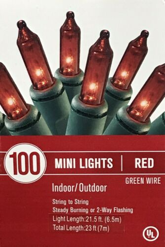 100 red mini fairy lights indoor outdoor Christmas party wedding decor 20 ft