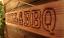 GRILL-amp-BBQ-geflammt-Holzschild-fuer-Garten-Grillecke-Gartenhaus-Douglasie Indexbild 1