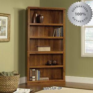 Image Is Loading 5 Tier Bookcase Corner Cabinet Book Shelf Wood