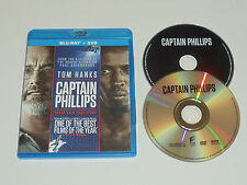Captain Phillips (Blu-ray/DVD, 2-Disc Set) Tom Hanks film movie rated PG-13