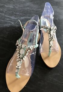 Forever-New-Size-41-9-5-Jewelled-Blue-Sandals-Rrp-80-Brand-New