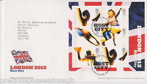 GB-ROYAL-MAIL-FDC-COVER-2005-2012-HOST-CITY-M-S-SHEET-TALLENTS-PMK-NO-INSERT