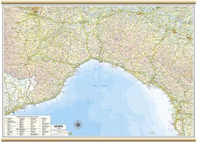 Carta GEOGRAFICA MURALE REGIONE calabria 61 X 88 cm BELLETTI cartina