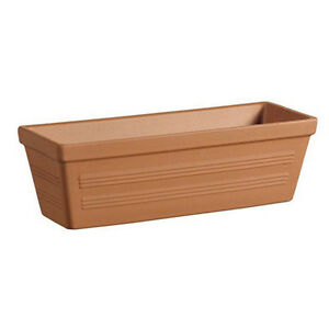 51cm Plain Pot Window Box Planter Classic Terracotta Garden Plant
