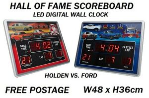 New-HOLDEN-VS-FORD-Hall-Of-Fame-Scoreboard-LED-Wall-Digital-Clock-RRP-150