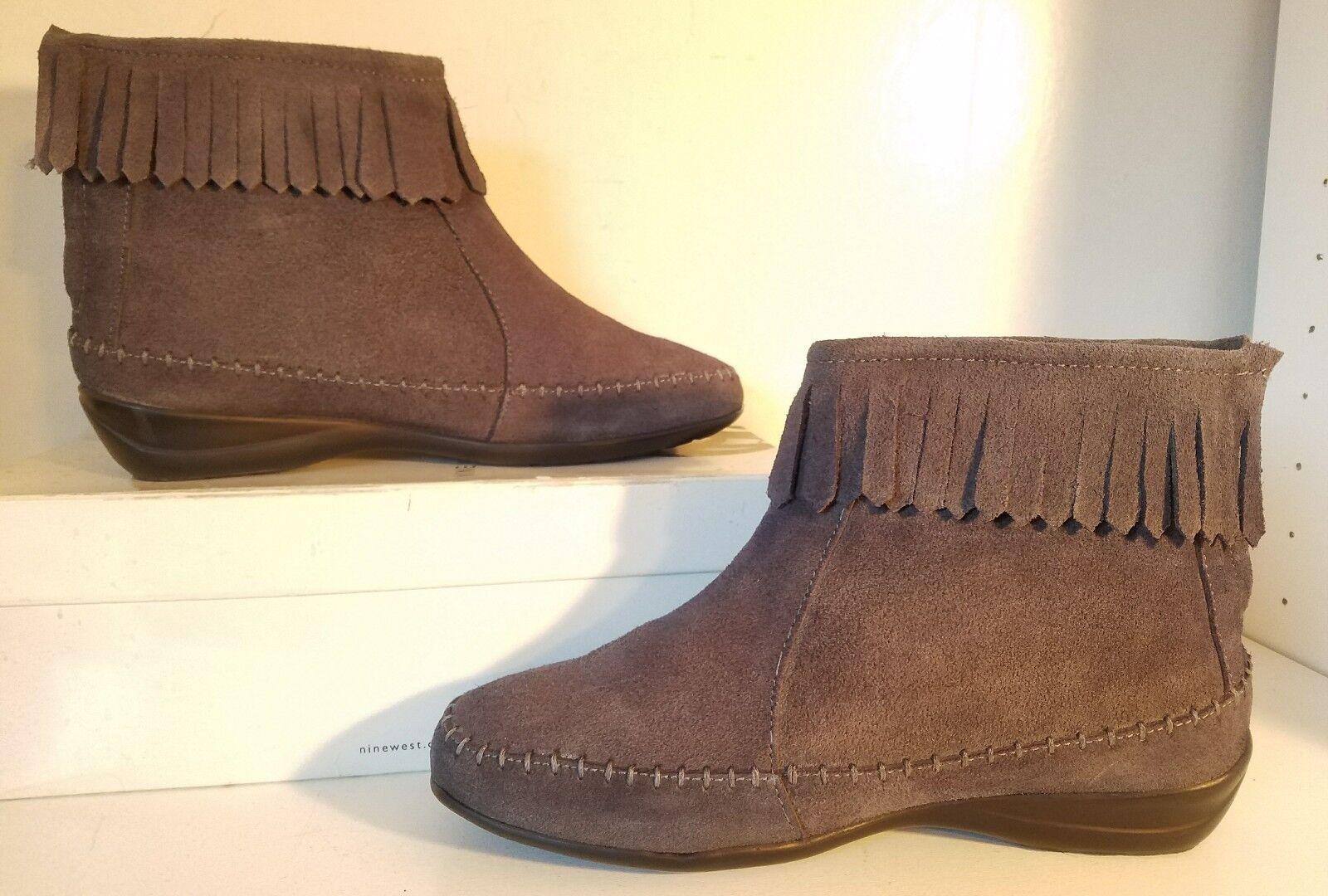 Comfort Case Blue Suede Zip Ankle Boots  Women Size 6M