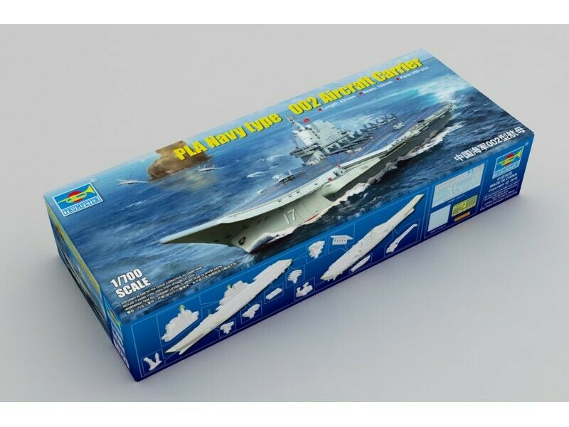 TRUMPETER 1 700 PLA NAVY TYPE 002 AIRCRAFT CARRIER MODELLINO IN KIT