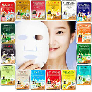 Japan Beauty Anti-aging Coenzyme Q10 Facial Mask - 3-Pack - For All Skin Types H2O+ Aqualibrium Illuminating Bio-Boost System