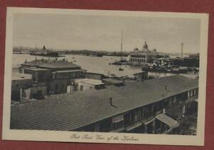 Port Said. View of the Harbour.  vintage  postcard  ga56