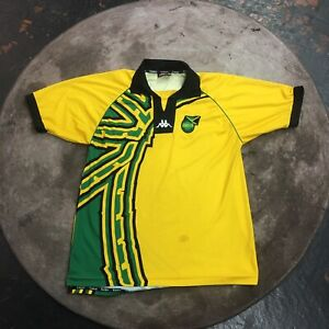 sale retailer 08ee1 46c60 Details about JAMAICA KAPPA WORLD CUP 1998 HOME FOOTBALL SOCCER JERSEY  SHIRT YL CAMISETA