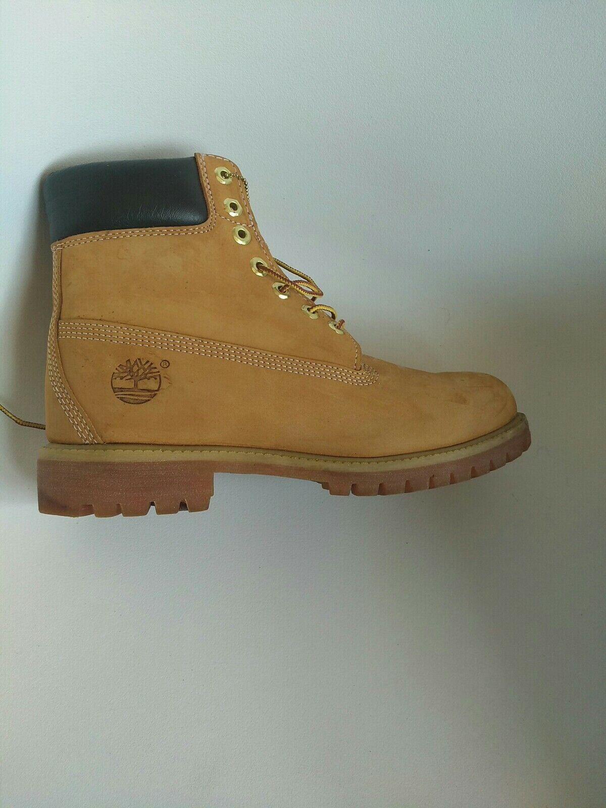 Timberland mens boots size 9 Premium Wheat Nubuck sample edition waterproof