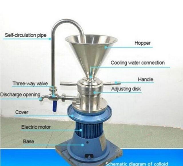 NEW Vertical Sesame Soybean Peanut Butter colloid mill grinder JML-65