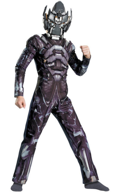 LICENSED CHILD BOYS TRANSFORMERS IRONHIDE MUSCLE FANCY DRESS HALLOWEEN COSTUME