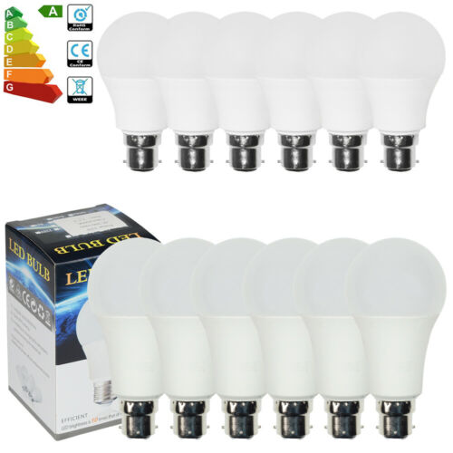 6//3//1x Bright UK 3Pin Bayonet BC3 Cap LED Globe Bulbs 10W 12W Energy Saving Lamp