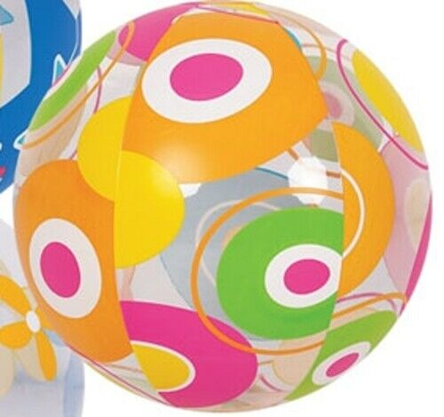 Inflatable Novelty Printed Beach Ball Garden Pool Summer Activity assorted