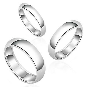Image Is Loading Authentic Round Plain Wedding Band Solid 925 Sterling
