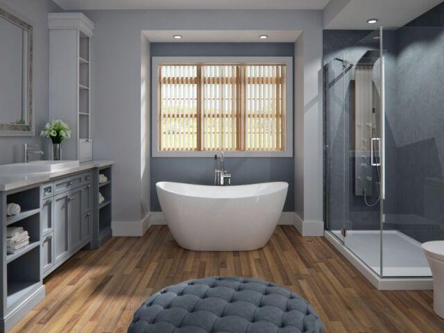 60 X 32 Neptune Flo3260f1 Florence Soaker Bathtub Freestanding