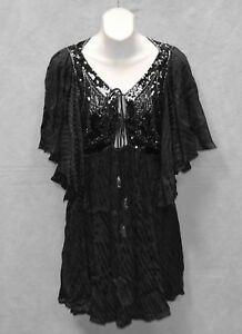 e18de548 B2 NWT FREE PEOPLE OB765612 Black Sequin Embellished Mesh Mini Dress ...