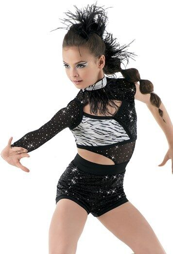 NEW TWIRLING  BALLROOM DANCE DRESS BATON HALLOWEEN ICE SKATING COSTUME ZEBRA