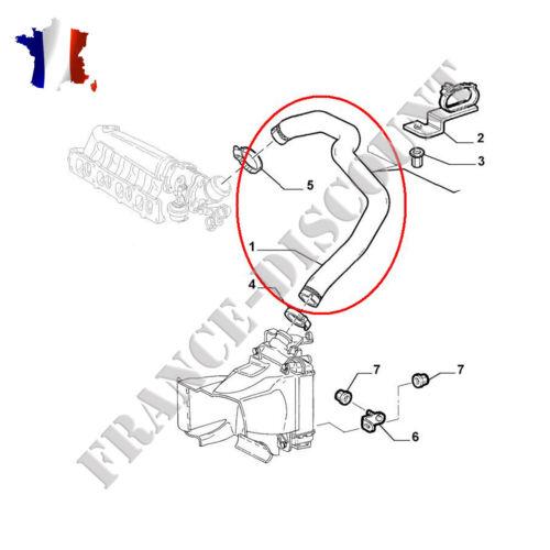Durite Supérieur d'échangeur turbo ALFA 147 1.9 JTD 1.9 JTDM