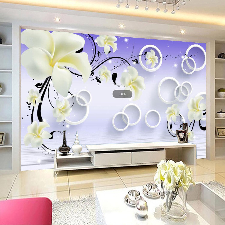 3D Flower Patterns 878 Wallpaper Mural Wall Print Wall Wallpaper Murals US Carly