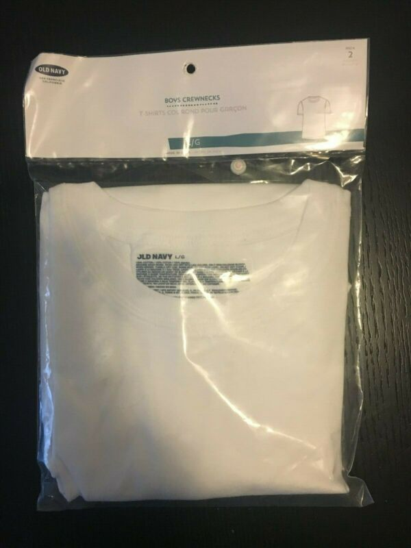 Old Navy Boys White Undershirts Pack Of 2 Size Large