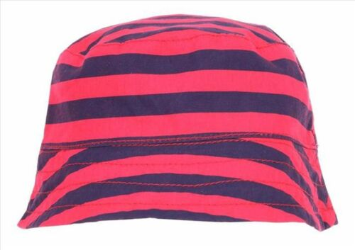 BABY BOY/'S REVERSIBLE STRIPEY SUMMER//SUN BUSH HAT 3 6 8 12 MTHS