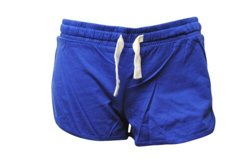 Womens New Look Shorts Jersey Soft Cotton Blue Size 6 to 18 Ladies A9.4