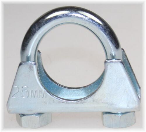 1St Bügelschelle Rohr Schelle U-Bolt Clamp M8 x 26mm U-Schelle Auto TOP Auspuff