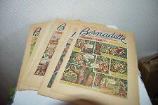 LOT 10 MAGAZINE BD BERNADETTE ILLUSTRE CATHOLIQUE DES FILETTE 1954 TOMBE DU CIEL
