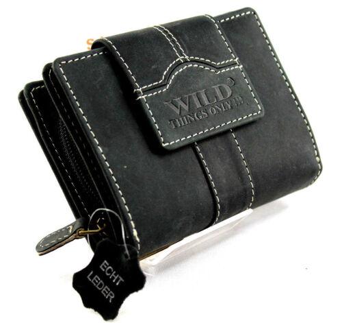 SJ-00275 Damen Echt Leder Portemonnaie Brieftasche,Geldbörse,Wallet WILD