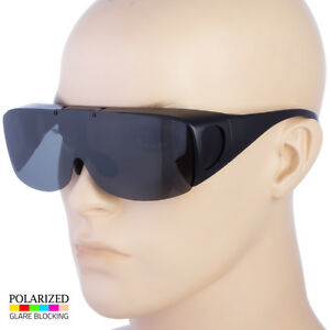 3c1a5a67853 Details about POLARIZED FIT OVER SUNGLASSES COVER ALL GLASSES DRIVE FISH WRAP  SOLAR SHIELD b