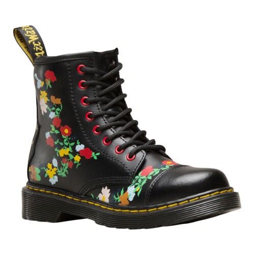 Dr.Martens 1460 Pooch Flower Y T Lamper Leather Floral Ankle Youth Boots