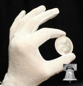 12-Pair-White-Cotton-Inspection-Glove-LIGHT-DUTY-Coin-Jewelry-Stamp-Silver-LARGE