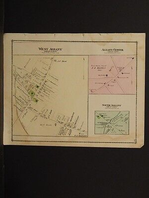 Albany Center K1#08 Hard-Working Vermont Orleans County Map 1878 West Albany