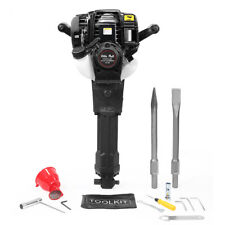 38cc Gas Powered Demolition Concrete Breaker Drill Jack Hammer With 2 Chisel Epa