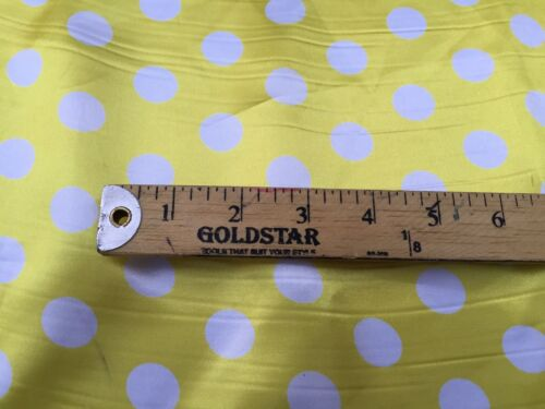 Yellow//white 1//2inch Polka Dot Soft//silky Charmeuse Satin Fabric 10 Yards .