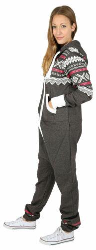 Nouveau Femmes Aztèque Imprimé à Capuche à Fermeture à glissière oneses JumpSuit Plus Taille S à 5XL
