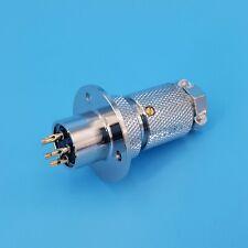 Gx18 5 Pin Metal 16mm Chassis Panel Mount Cable Plug Circular Connector