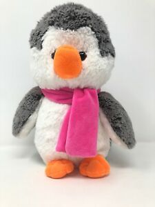 Cuddles-Time-10-Penguin-With-Pink-Scarf-Soft-Plush-Toy