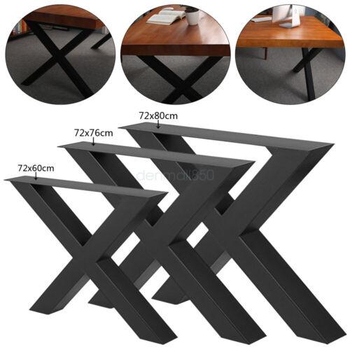 "Metal Steel Table Legs 28/"" Inch X Shape for Dining Table Desk 2PC Heavy Duty"
