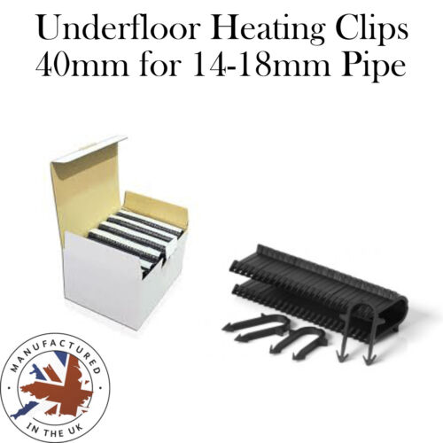 40MM UNDERFLOOR HEATING UFH PIPE CLIP STAPLES FIT 16MM PIPE WORKS WITH 14-20mm