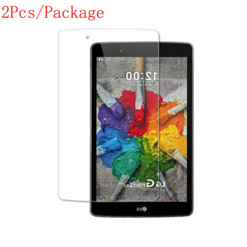 2X Tempered Glass Film Screen Cover Protector Guard For LG G pad F 8.0 V495
