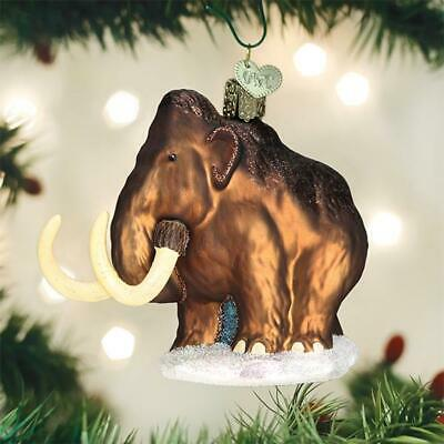 """12563 X Old World Christmas Glass Ornament w// OWC Box /""""Wooly Mammoth/"""""""