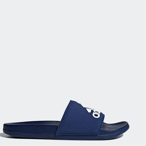 Adidas B44870 Herren Adilette Comfort Hausschuhe Badesandalen blau navy weiß
