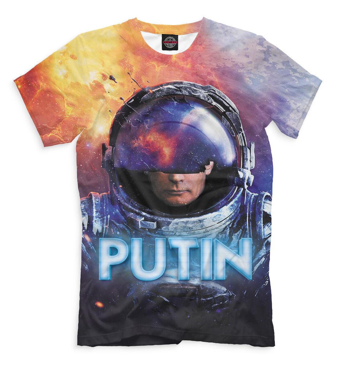 Design T-shirt Cool President Putin Cosmonaft. Astronaut Russia Full print PB