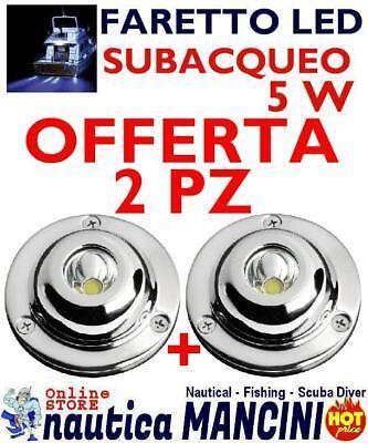 PLAFONIERA FARETTO FANALE mm.63 COB LED BIANCO 5W 12V-24V BARCA AUTO MOTO CAMION