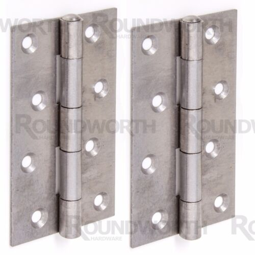 """2 x NARROW FRAME DOOR HINGES 125mm//5/"""" Large Silver Strong Heavy Duty Hang Pair"""