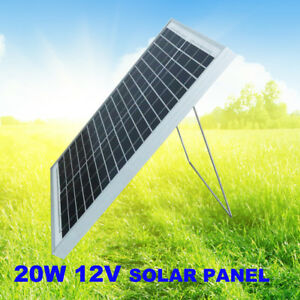 12V-20W-MONO-SOLAR-PANEL-TRICKLE-POWER-CHARGER-RV-AGM-Complete-Kit-4WD-4x4