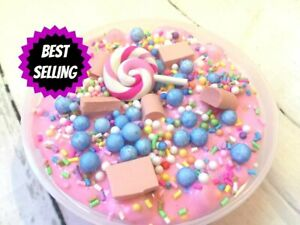 Image Is Loading SLIME Birthday Cake PINK Scented 2 Oz Hand